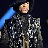 Prince presented the award for British female solo artist at the BRIT Awards in 2014.