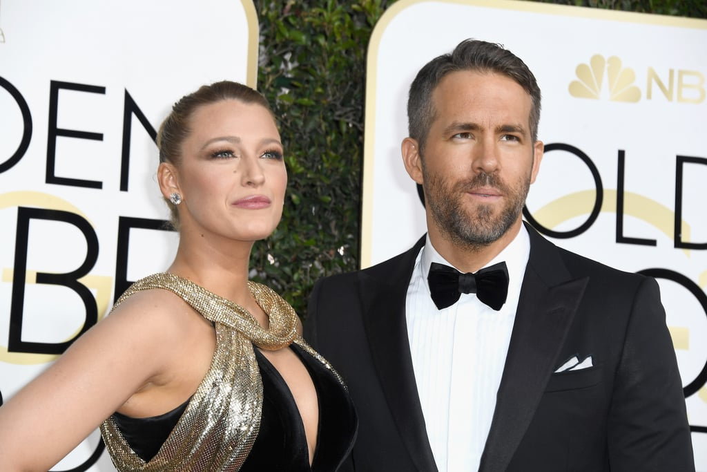 Ryan Reynolds and Blake Lively at the 2017 Golden Globes