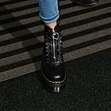 A Closer Look at Her Combat Boots