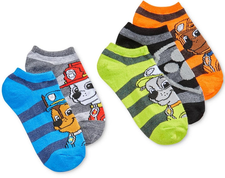 Paw Patrol Striped Ankle Socks