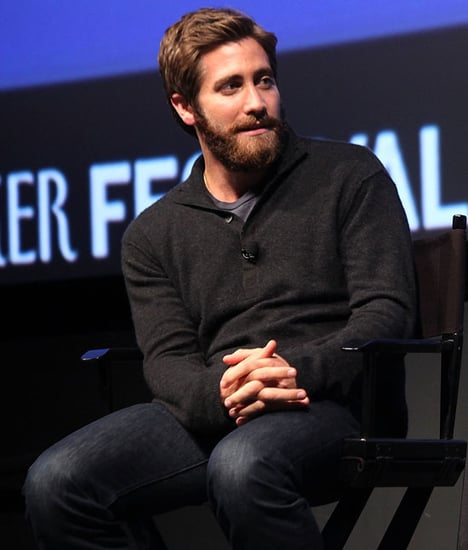 Pictures of Jake Gyllenhaal Talking at the New Yorker Festival