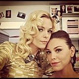 Hart of Dixie's Jaime King and Kaitlyn Black got glam, Bluebell style. Source: Instagram user jaime_king