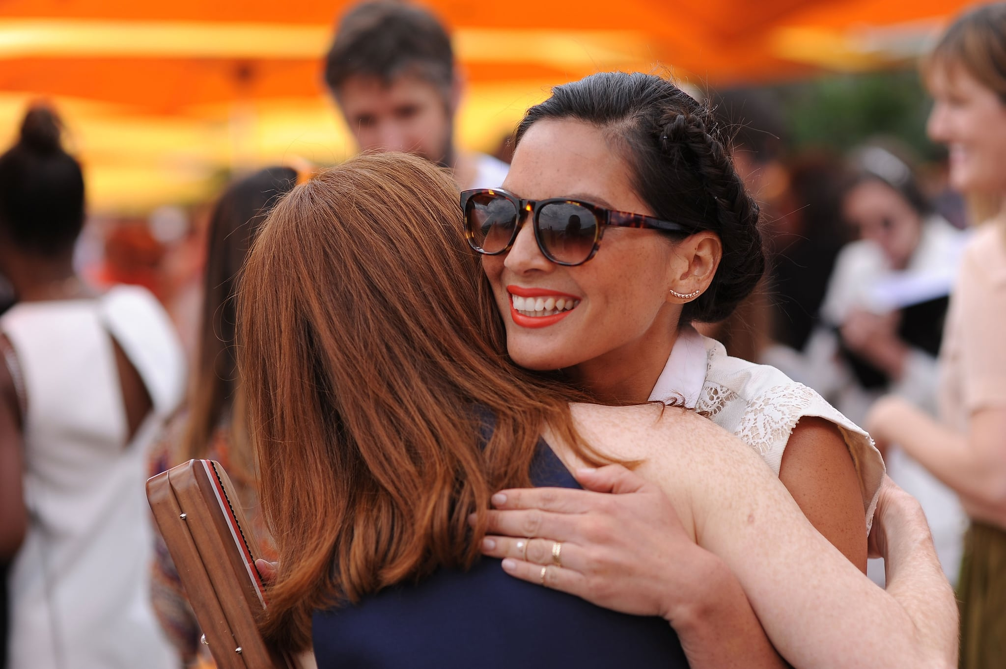Olivia lit up with a smile as she hugged Julianne.