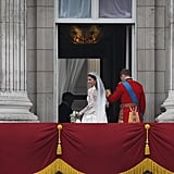 Prince William Kate Middleton First Kiss Balcony