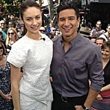 Olga Kurylenko chatted about Oblivion with Mario Lopez amid fans for Extra. Source: Twitter user MarioLopezExtra