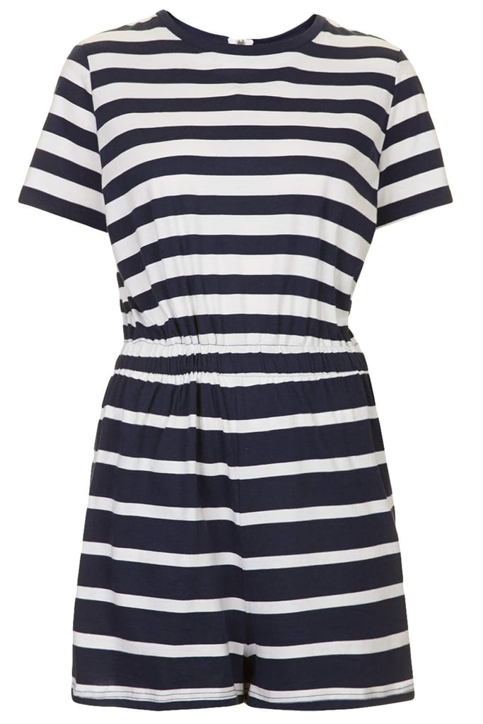 Topshop Striped Romper