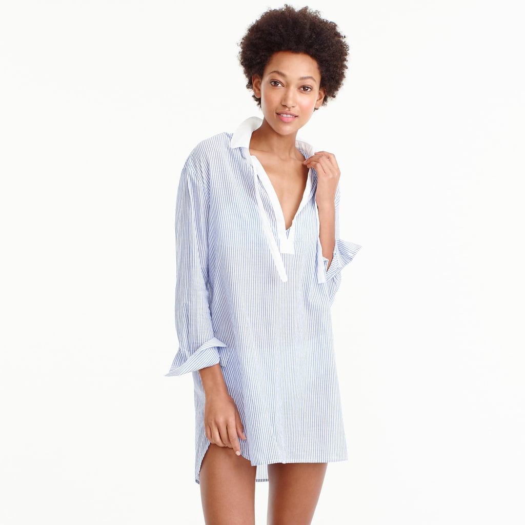 She'll throw J.Crew's Cotton Voile Striped Tunic ($70) over all her swimsuits this season.