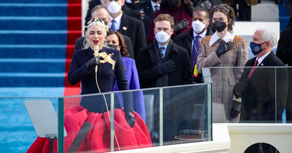Lady Gaga's Schiaparelli Outfit at Inauguration Day Was the Most Lady Gaga Outfit