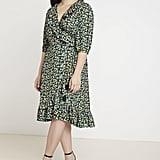 Jason Wu x Eloquii Printed Ruffle Wrap Dress