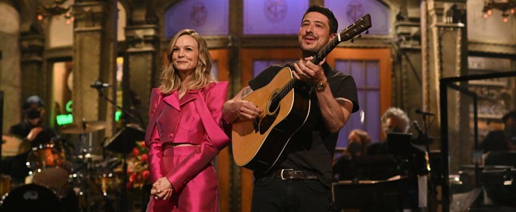 Carey Mulligan Wears a Hot-Pink Aliétte Suit to Host SNL