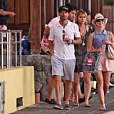 Julianne Hough and Ryan Seacrest on vacation in St. Barts.