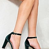 Nasty Gal Velvet Heel