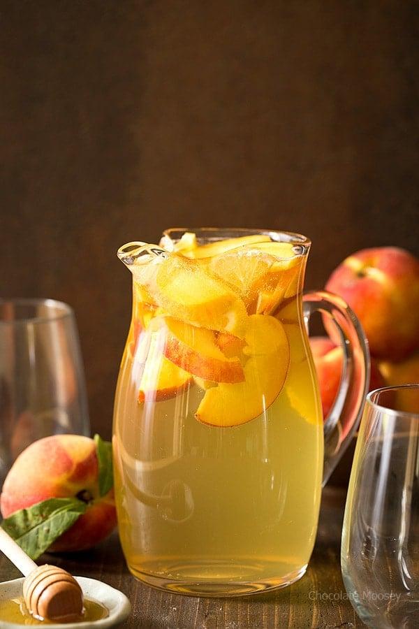 Peach Honey Sangria