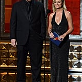 Comedic duo Louis C.K. and Amy Poehler presented an award together.