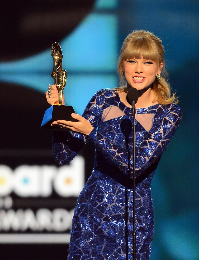 Taylor Swift thanked fans for being her best, longest relationship during an acceptance speech.