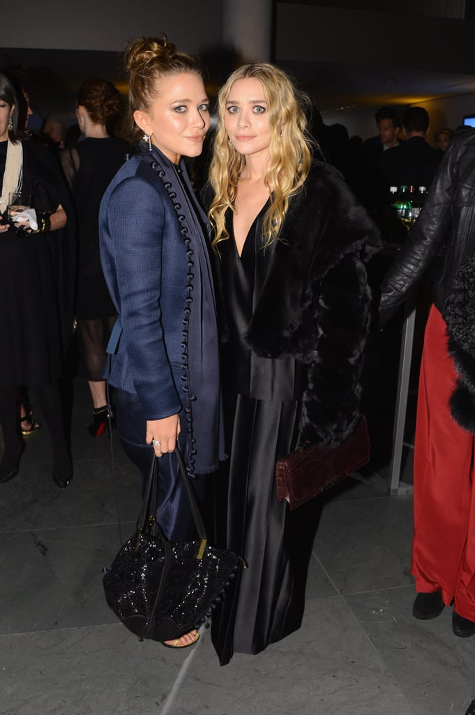 Mary-Kate and Ashley Olsen attended WSJ. Magazine's Innovators of the Year awards, where they were honored for their label The Row — and showed off two elegant takes on evening dressing.