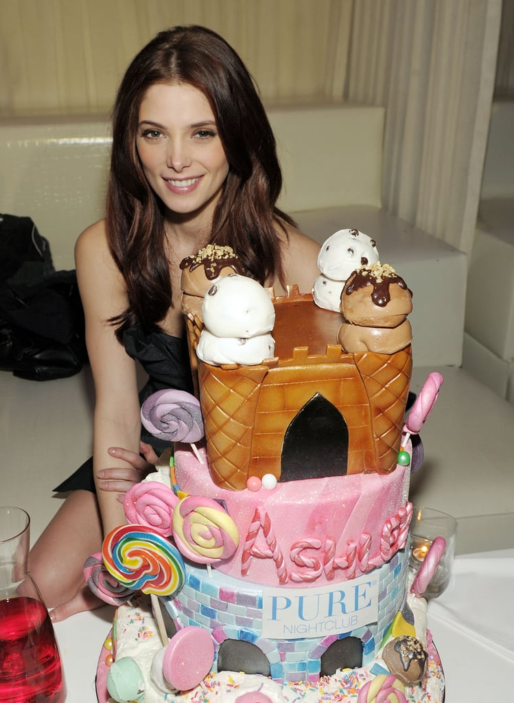 Ashley Greene had an early birthday party in Las Vegas on Saturday night. She turns 24 today, but took advantage of the weekend to meet up with friends at Pure. Ashley's boyfriend, Joe Jonas, was there for the candy-themed bash, where Ashley showed off the Chanel bracelet he gave her. She's on hiatus from filming Breaking Dawn, as is her costar Kristen Stewart, who just returned to California sporting a headline-making wrist spint. Ashley's not the only Twilight star to celebrate a February birthday, since Taylor Lautner turned 19 earlier this month.