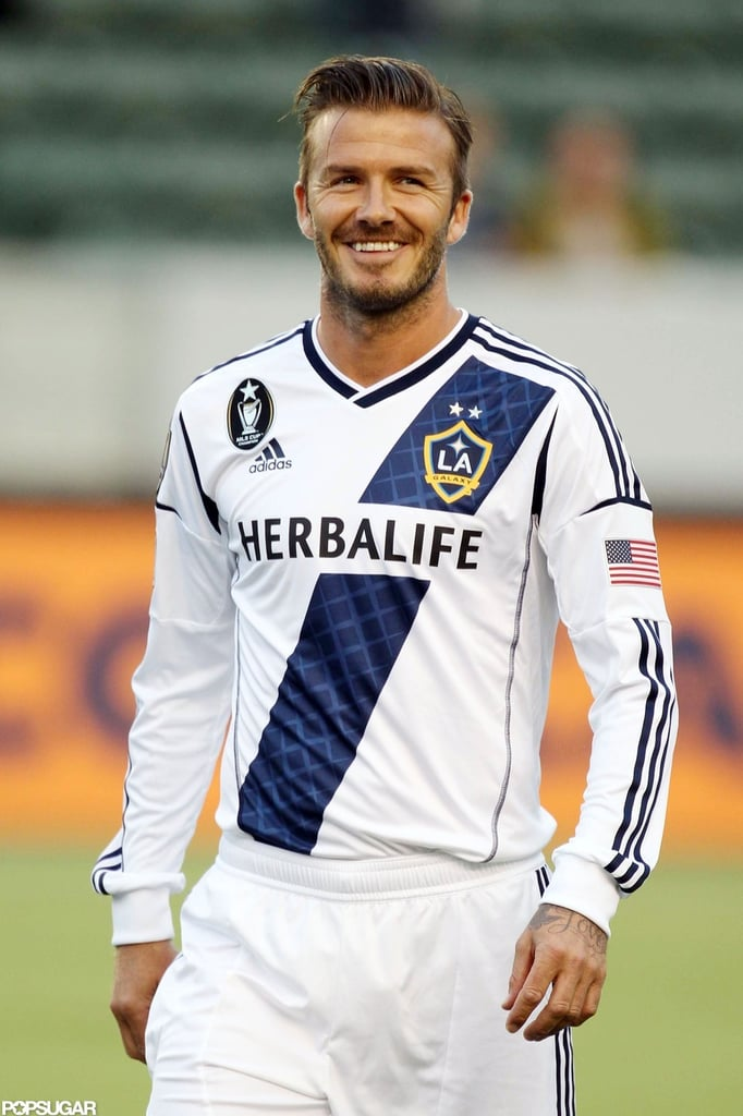 David Beckham Smiling on the Soccer Field | POPSUGAR ...