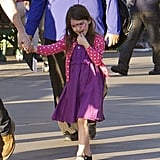 Suri Cruise had her face painted at Disneyland.