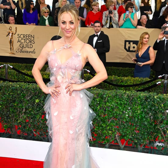 Kaley Cuoco's Marchesa Dress at the 2017 SAG Awards