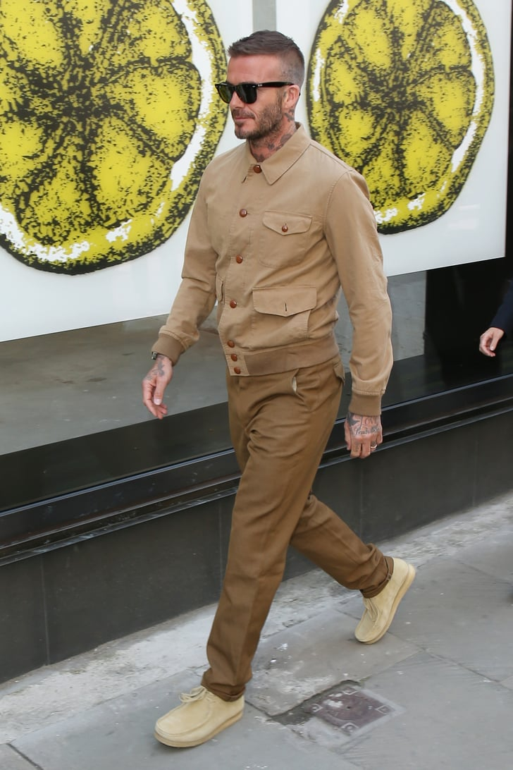 David Beckham At London Fashion Week Men S 2018 Popsugar