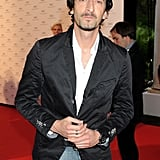 Adrien Brody attended a party in Cannes.