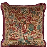 Liberty London Tree of Life Fringed Velvet Square Cushion