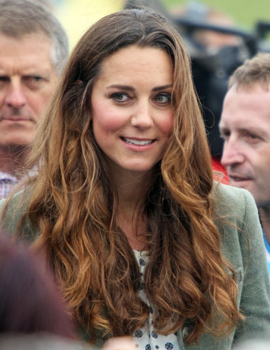 kate middleton curly hair pictures at postbaby appearance