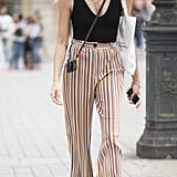 Keep the Top Neutral and the Bottom Flashy With Pinstripe Pants