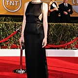 Michelle Dockery's ultrasexy vintage Chado Ralph Rucci, complete with sheer insets, was a total departure from alter ego Lady Mary.