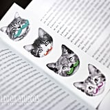 Moustachioed Cat Bookmark ($4)