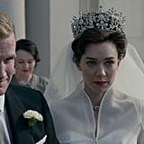 In The Crown, Prince Philip tells his teary-eyed sister-in-law that her father would have been proud.