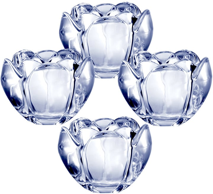 Romantic Bloom Glass Votives ($30 for set of 4)