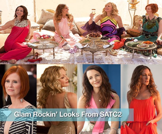 Get a sneak peek of the glam rockin' looks from Sex and the City 2!