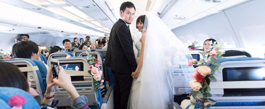 1 Travel-Obsessed Couple Took Their Relationship To New Heights With This Quirky Wedding