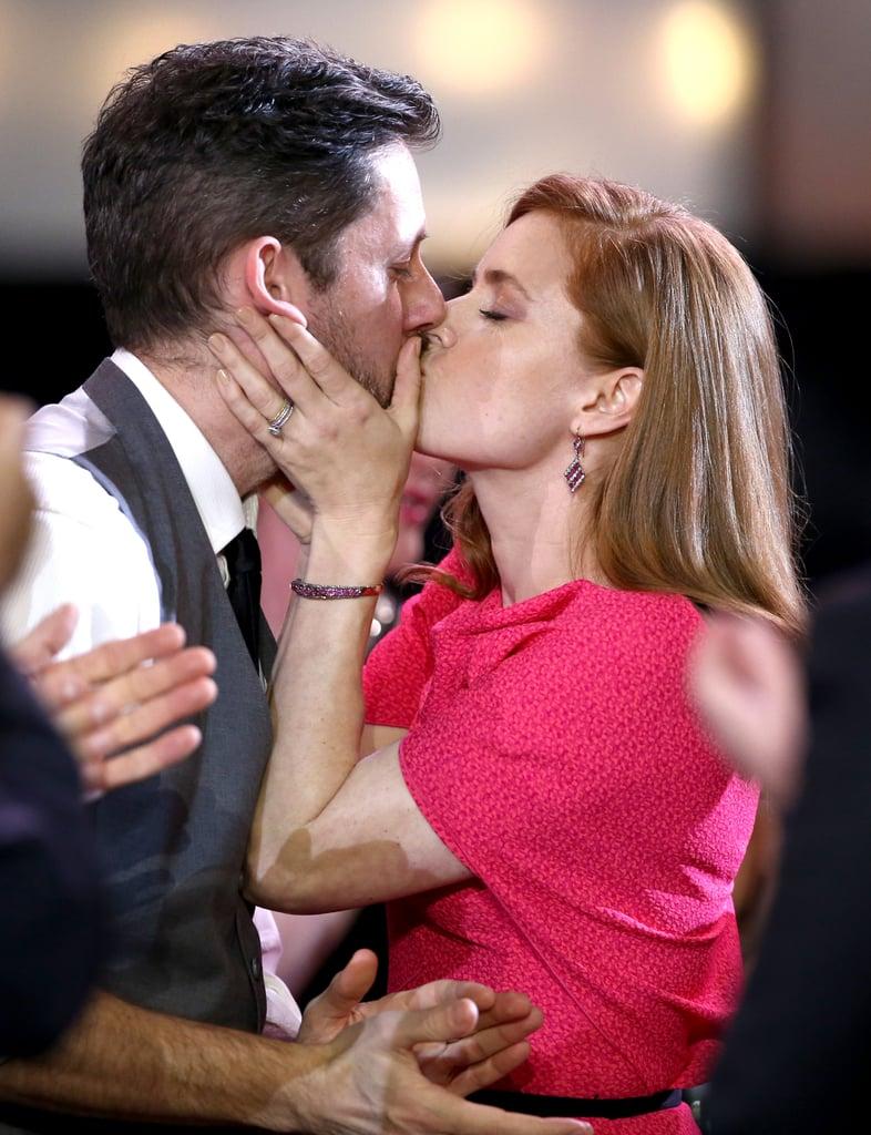Amy Adams kissed her partner, Darren Le Gallo.