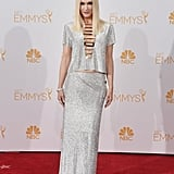 Gwen Stefani in Versace at the 2014 Emmy Awards