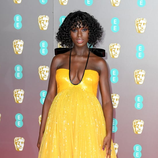 Jodie Turner-Smith's Yellow Gucci Gown at BAFTAs 2020