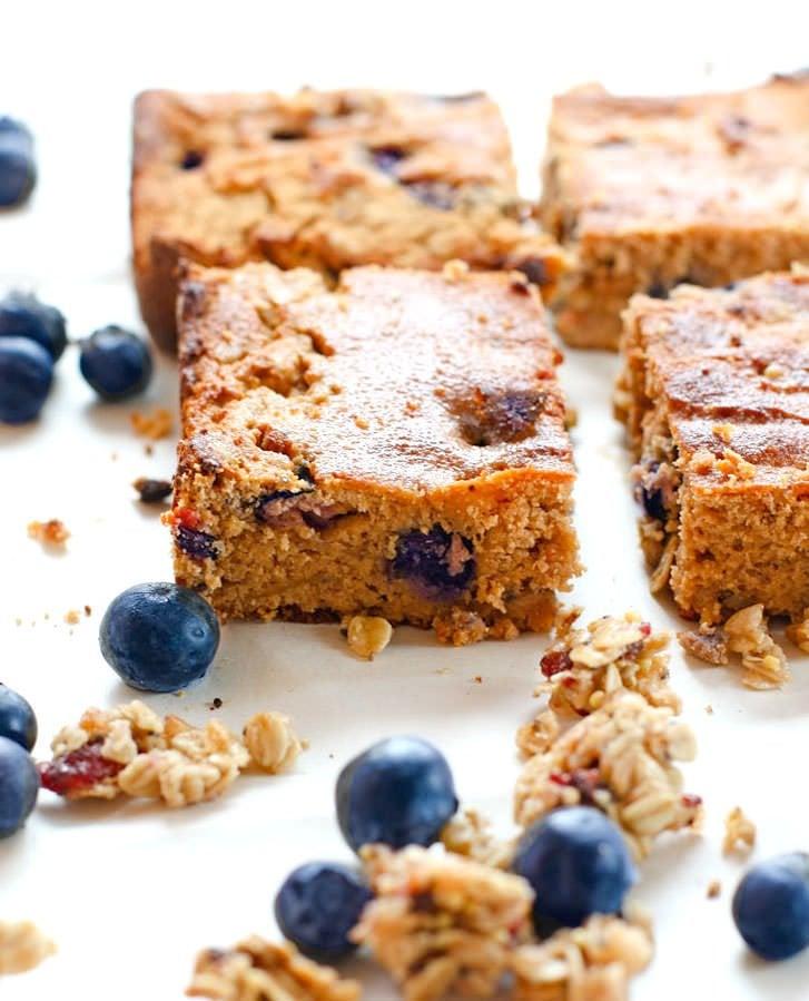 Blueberry Carrot Cake Breakfast Bars