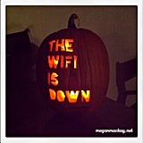 """The WiFi Is Down"" Pumpkin"