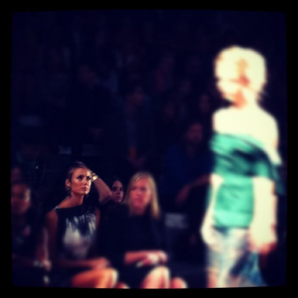 InStyle caught Stacy Keibler sitting front row at Vera Wang. Source: Instagram user instylemagazine