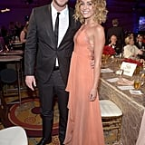 Miley and boyfriend Liam Hemsworth made a stunning pair at the event.