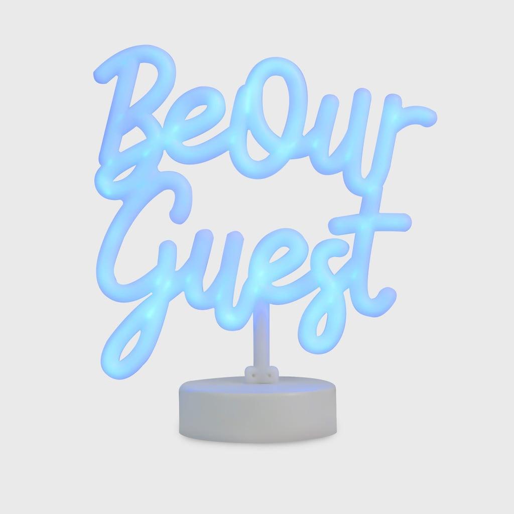 Disney Princess x POPSUGAR Belle Be Our Guest Neon Desktop Lamp