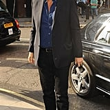 The artist Mario Testino arrives to see his work. He has also produced a book simply titled Kate Moss by Mario Testino.