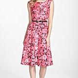 Gabby Skye Belted Flower Print Shantung Midi Dress ($108)