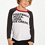 Football and Food Baseball Tee