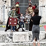Victoria Beckham took a special picture of her sons while in Rome in 2009.