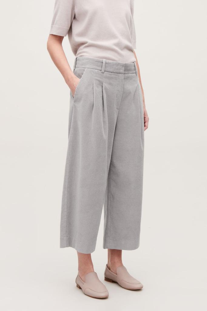 COS Wide Leg Corduroy Trousers