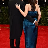 Kanye got cheeky with Kim on the Met Gala red carpet.