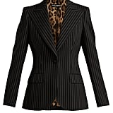 Dolce & Gabbana Single Breasted Pinstripe Wool Blazer